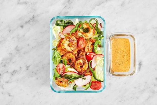 Assemble & Store the Smoky Shrimp Salad