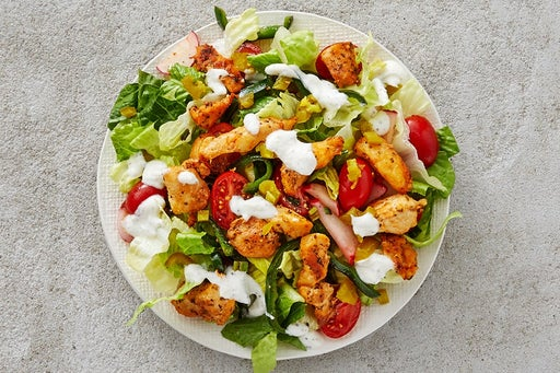 Finish & Serve the Mexican Chicken Salad