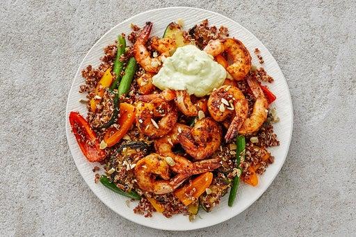 Finish & Serve the Shrimp & Creamy Guacamole