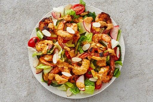Finish & Serve the Smoky Shrimp Salad