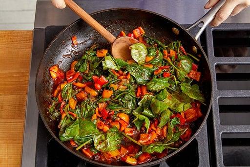 Make the sauce & finish the pasta