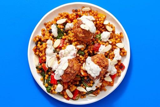 Finish & Serve the Pork Chorizo Meatballs & Veggie Pasta