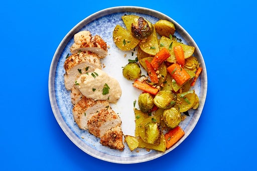 Finish & Serve the Roasted Chicken & Vegetables
