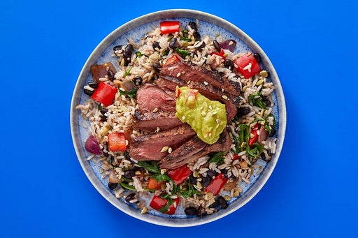 Finish & Serve the Seared Steak & Pepper Guacamole