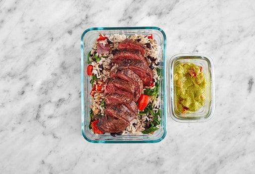 Assemble & Store the Seared Steak & Pepper Guacamole