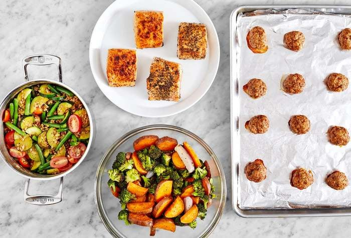Carb Conscious with Turkey Meatballs & Salmon