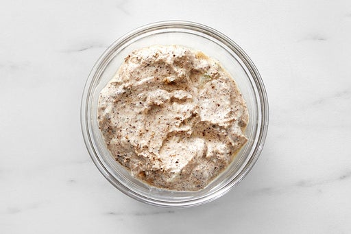 Make the Za'atar Yogurt Sauce