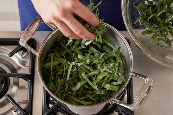 Make the collard green rice: