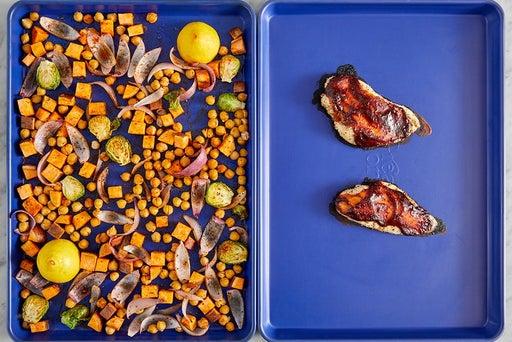Roast the vegetables & chickpeas