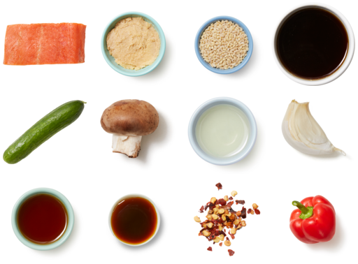 Miso & Maple-Glazed Tilapia with Barley, Pepper & Mushrooms