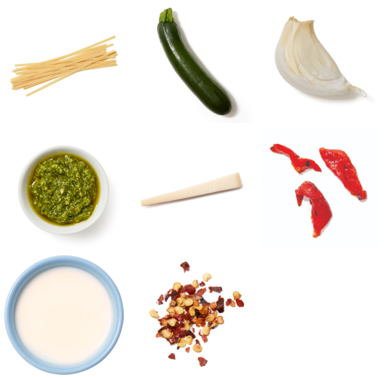 Creamy Pesto Fettuccine with Zucchini