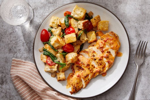 Hot Honey Chicken with Rosemary & Cipolline Onion Panzanella