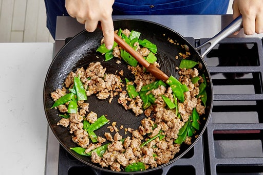 Cook the turkey & peas