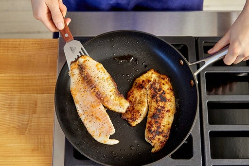 Cook the tilapia