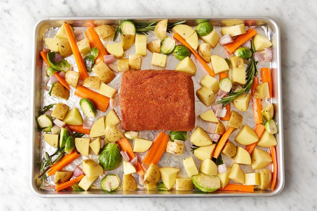 Prepare the pork: