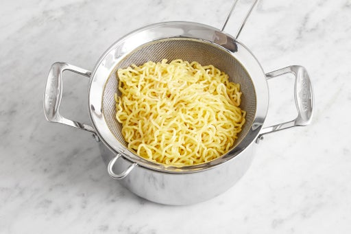 Cook & dress the noodles