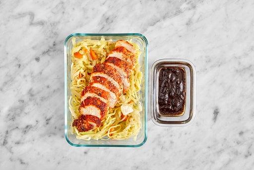 Assemble & Store the Togarashi Chicken & Noodles