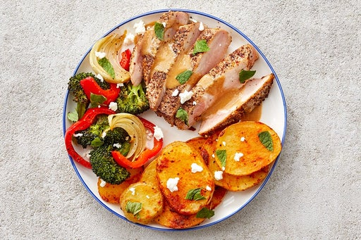 Finish & Serve the Za'atar Pork Chops