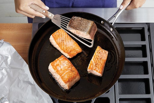 Coat & cook the fish
