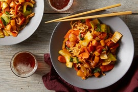 Vegetable Lo Mein with Bok Choy & Carrots
