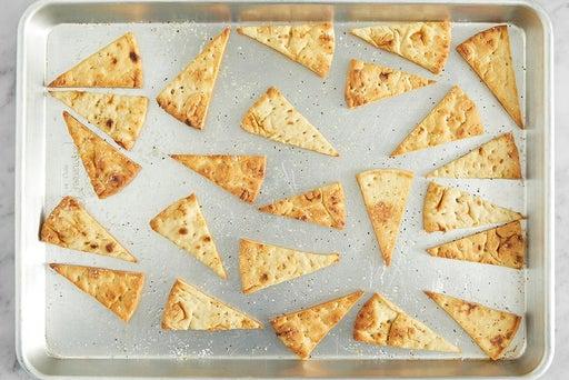 Make the pita chips