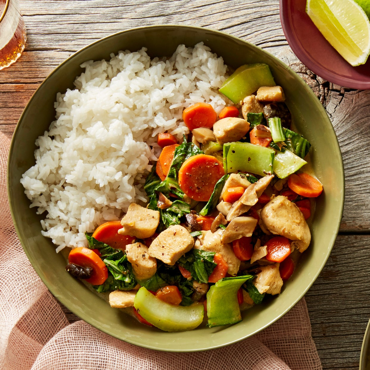 Thai Curry Chicken with Carrots & Bok Choy