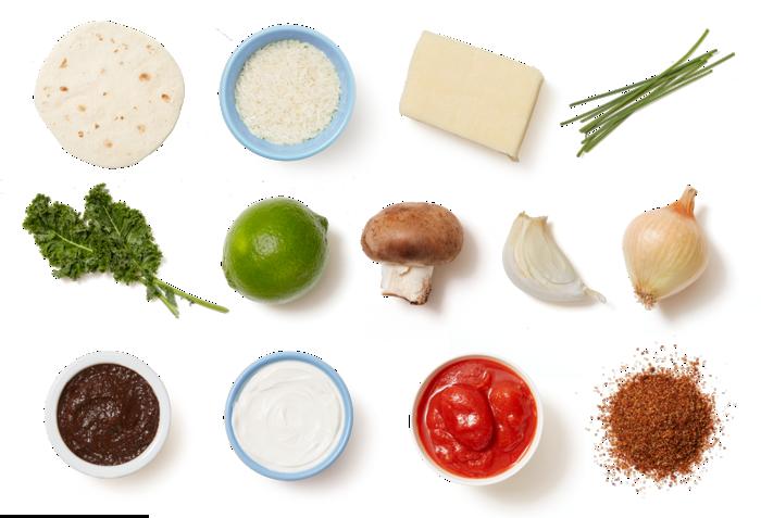 Cheesy Enchiladas Rojas with Mushrooms & Kale