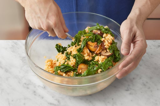 Cook the vegetables & start the filling: