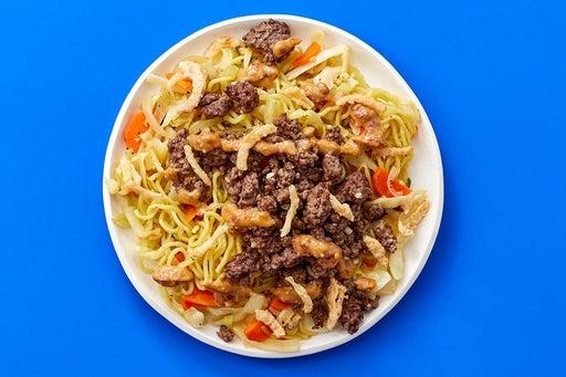 Finish & Serve the Sautéed Beef Pitas & Harissa Tzatziki