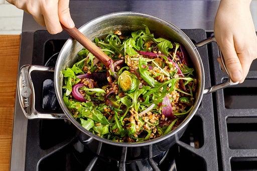 Roast the remaining vegetables & finish the farro