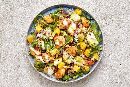 Finish & Serve the Pan-Seared Chicken & Farro Salad