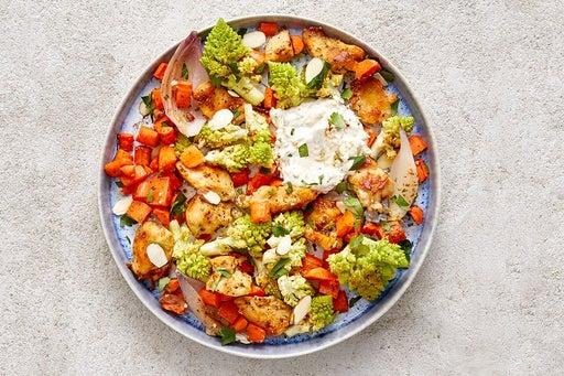 Finish & Serve the Chicken & Spicy Tzatziki