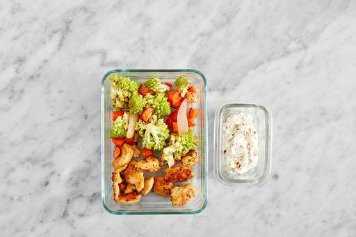 Assemble & Store the Chicken & Spicy Tzatziki