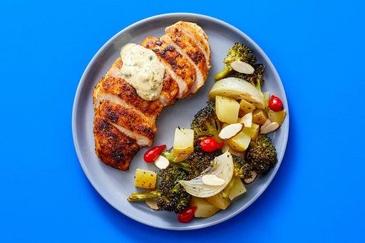 Finish & Serve the Cajun-Spiced Chicken & Veggies