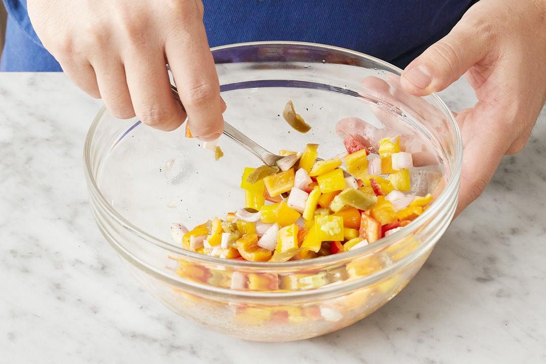 Make the pepper salsa: