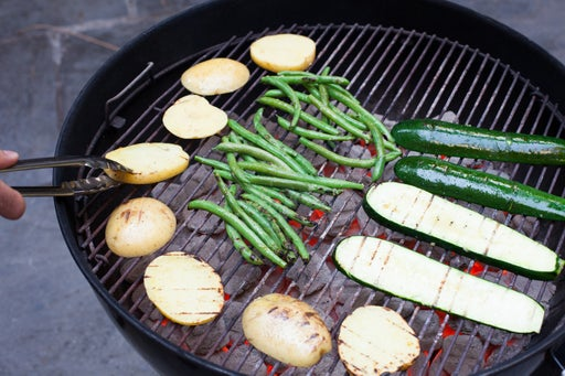 Grill the vegetables: