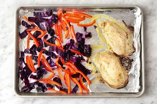 Bake the chicken & vegetables: