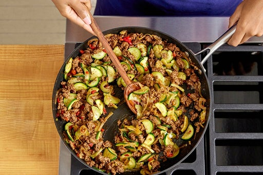 Cook the beef & vegetables