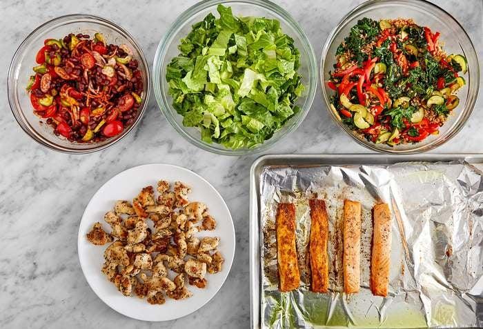 Chicken & Roasted Salmon Meal Prep Bundle