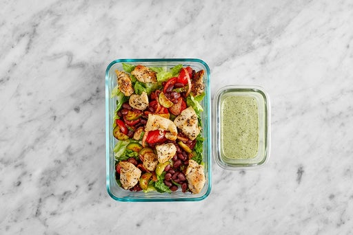 Assemble & Store the Mexican Chicken Salad