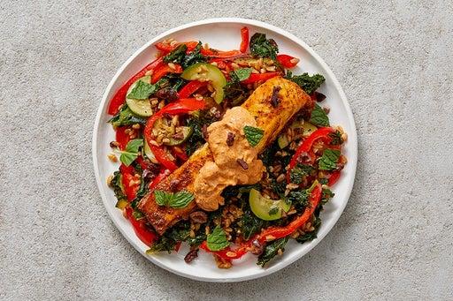 Finish & Serve the Shawarma-Spiced Salmon