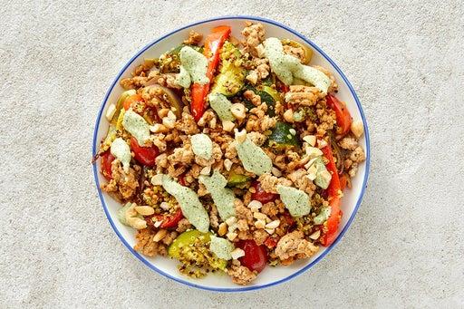 Finish & Serve the Creamy Cilantro Turkey & Quinoa