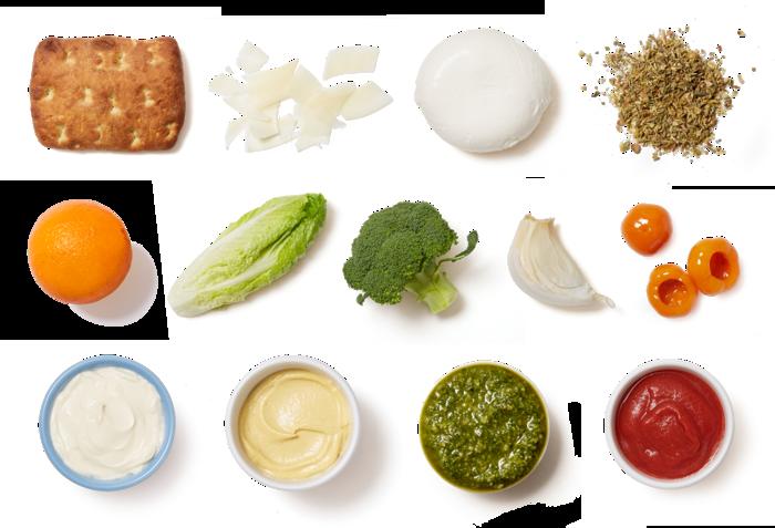 Broccoli & Basil Pesto Sandwiches with Romaine & Citrus Salad