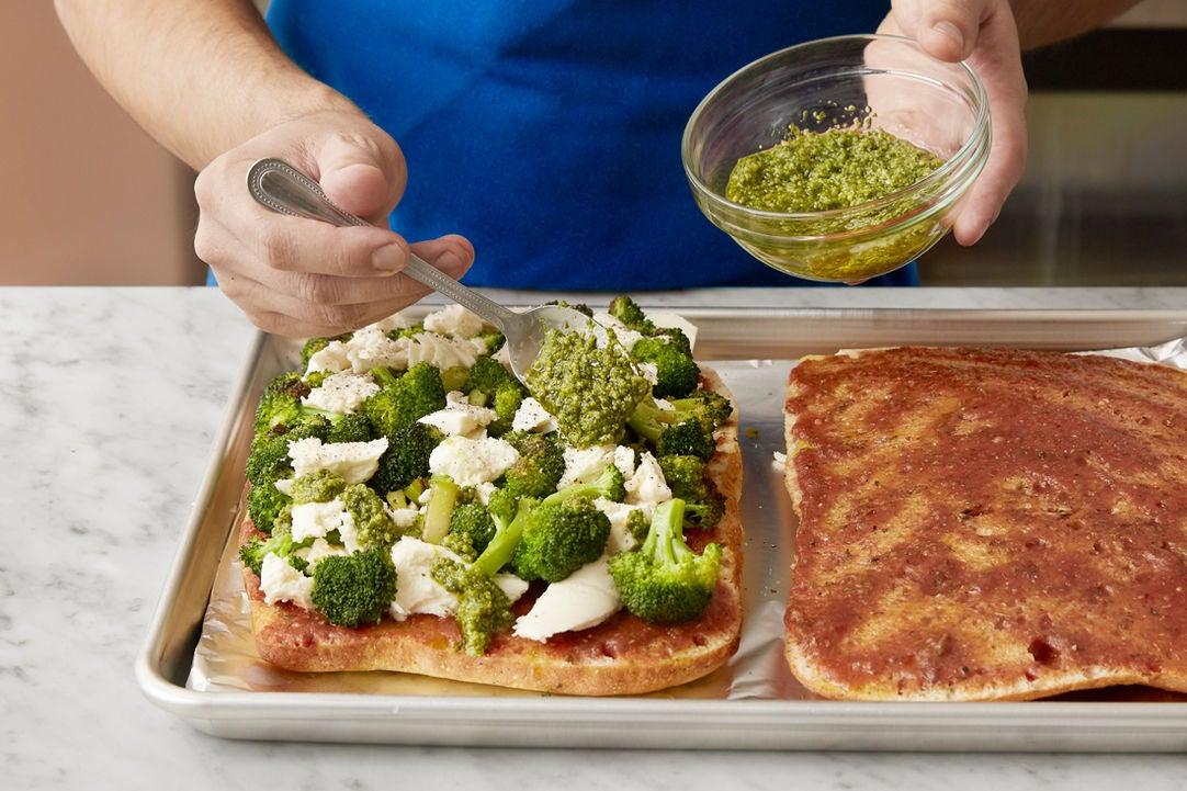 Top & bake the focaccia: