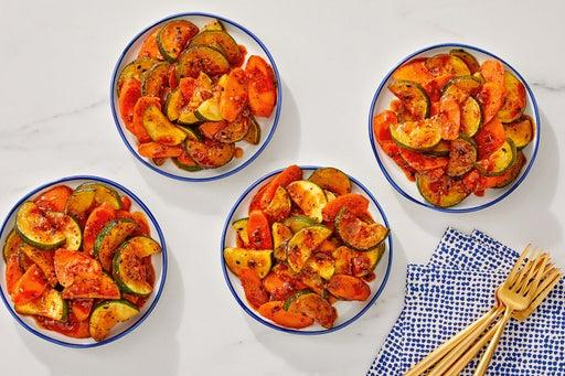 Zucchini & Carrot Sauté with Togarashi-Soy Glaze