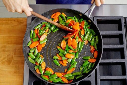 Cook & finish the vegetables
