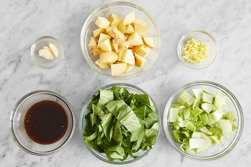 Prepare the ingredients & make the glaze