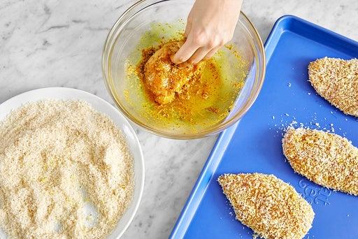 Prepare & bread the chicken