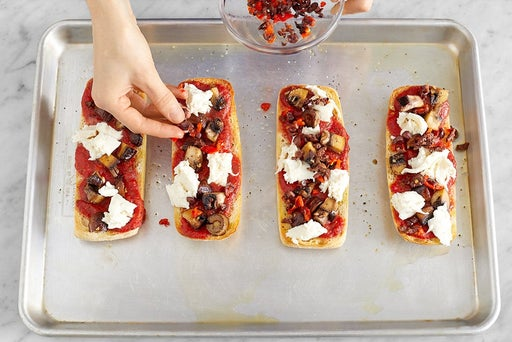 Make the pizzas & serve your dish