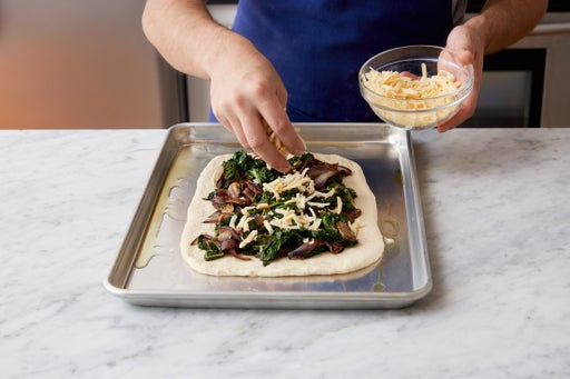 Assemble & bake the flatbread: